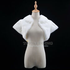 Ivory Bridal Wedding Dress Bolero Shrug Jacket Wrap Formal Party Evening Cape
