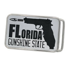 Buckle Rage Adult Unisex Florida Gunshine State Carry Gun Rounded Belt Buckle