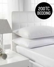 LUXURY 100%COTTON FITTED SHEETS HIGH QUALITY 200 THREAD COUNT SINGLE DOUBLE KING