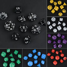 10Pcs/Set Multi-Sid D4 D6 D8 D10 D12 D20 D30 DRAGONS D&D RPG Poly Dice Game