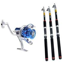 2.1M/2.4M/2.7M Telescopic Fishing Rod Pole / 8BB Spinning Reel ST400 NY6H