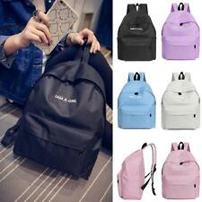 Boys Girls Unisex Canvas Rucksack Backpack School Book Shoulder Bag Laptop Bag