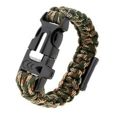Survival Rope Paracord Bracelet Outdoor Camping Hiking Shackle Buckle NC4I