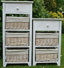 3 & 4 DRAWER STORAGE UNITS - WOOD & WICKER