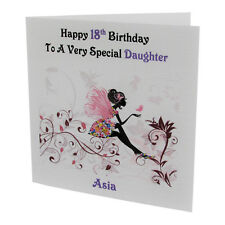 HANDMADE - PERSONALISED Fairy / Butterfly FEMALE RELATION BIRTHDAY CARD