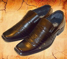 NICE ITALIAN STYLE MENS DRESS/CASUAL SHOES COLOR BLACK COLOR EXCELLENT QUALITY