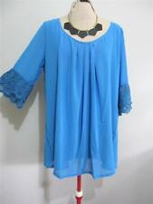"""KIVALIN Evening Cocktail """"NWT"""" BLOUSE TOP 18 20 22 """"BLUE"""" Lace Womens Dress"""