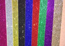 A4 Soft Touch Glitter Card ~ 280GSM white backed. 16 colours available.