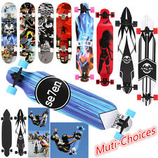"""41""""Maple Wood Deck Complete Skateboard Stained Longboards Muti-Designs#US SHIP!"""