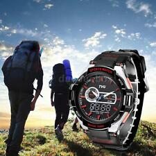 TVG Waterproof LED Digital Quartz Wrist Watch Rubber Sports Mens Gift + Box OE6W