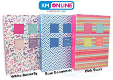 "5""x7"" 100 Or 200 Pockets Standard Photo Album in White, Blue or Turquoise Design"