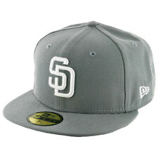 New Era 59Fifty San Diego Padres Fitted Hat (Storm Grey/White) Men's MLB Cap
