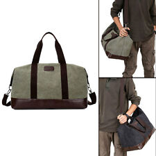 Men's Canvas Holdall Large Handbag Weekend Travel Bag Military Shoulder Bags New