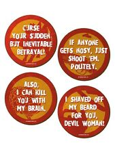 Character Quotes 4 Pack Of Coasters
