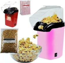 NEW HOT AIR ELECTRIC POPCORN MAKER POPPER MACHINE & PACK OF POP CORN BAGS