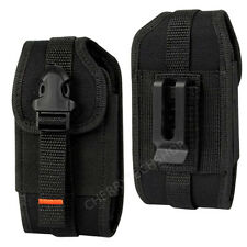 REIKO Vertical Heavy Duty Rugged Canvas Belt Clip Case for Sprint Cell Phones