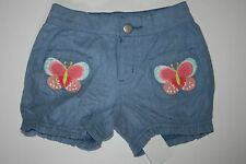 NEW Gymboree Outlet Chambray Shorts with Butterfly Pockets Size 2T 3T 4T 5T NWT