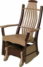 Recycled Poly Bentwood Lumber Porch Glider - 7 PREMIUM COLORS - Amish Made
