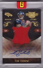 2010 Tim Tebow Panini Plates & Patches Jumbo Patch Auto RC - Serial #d 6/10