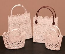 Embroidery Lace Tote Bags with Handles
