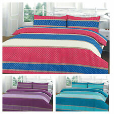 New Modern Color Design Poly Cotton Bedding Duvet/Quilt Covers With Pillow Cases