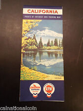 Vintage California Points of Interest and Touring Map
