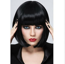 New Wigs Fashion Women Party Sexy Short Medium Black Synthetic Hair Full Wig+Cap