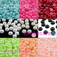 1000Pcs 3mm Acrylic Pearl Half Beads Flat Back,Craft Scrapbooking R0175