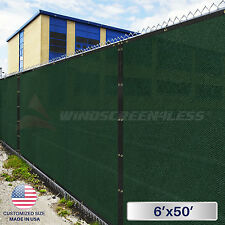 6'x50' Feet  Privacy Screen Mesh Fence Shade Cover Windscreen Zip Ties Included