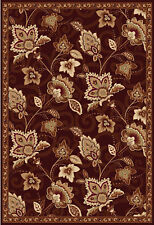 Rug Area Rugs Brown Bordered Area Rug Transitional Oriental Floral Modern Carpet