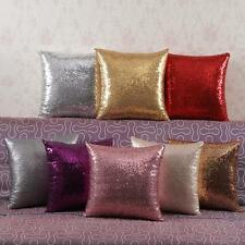 Home Decor Glitter Sequins Solid Color Throw Pillow Case Cafe Cushion Covers