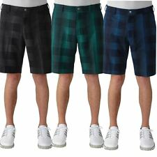 Adidas Golf Ultimate Competition Slim Fit Mens Funky Plaid Shorts 2016