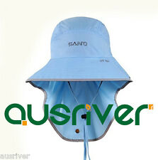 Premium Unisex Grey Blue Fishing Hiking Hunting Outdoor Cap Jungle Sun Hat Cap