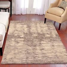 RUGS AREA RUGS CARPET 8x10 AREA RUG MODERN LARGE RUGS GRAY IVORY ABSTRACT  ~NEW~