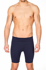 Mens Navy Quick Drying Stretch Yoga Workout Short by Gary Majdell Sport