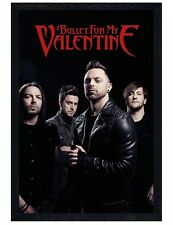 Bullet For My Valentine Black Wooden Framed Band Picture BFMV Poster 61x91.5cm
