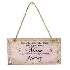 Shabby Wooden Plaque Newborn Baby Shower Home Wall Hanging Sign For Mum Dad Gift