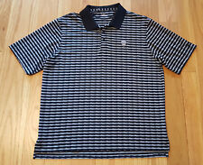 Under Armour Mens Large Black & Gray Striped Short Sleeve Polo Shirt XL NEW NWOT