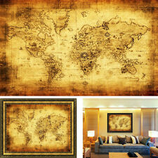Big Vintage Style Retro Cloth Poster Globe Old World Nautical Map Decor Gifts
