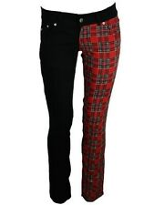 Jist Tartan and Black Split Leg Skinny Jeans