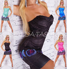 SEXY BANDEAU MINI DRESS DESIGNER DRESS SUMMER PARTY BEACH ONE SIZE 36-38