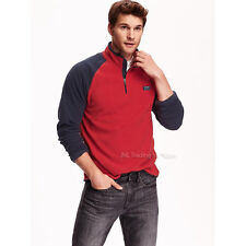 NWT Old Navy Men's Mock-Neck Performance Fleece Pullover Sweater in Red S/L/XL