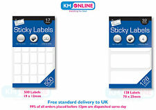 Stickey Labels Sheet Self Adhesive White Address/Price Sticker/Tags Blank Labels