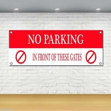 No Parking Infront Of Gates Quality Heavy Duty Vinyl Pvc Banner Printing