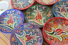 Intricate Turkish ceramic plates - 18cm,handmade, hand painted Ottoman designs