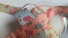 Berties Bows Vintage Style Floral and Polka Dot Ribbon 25mm width