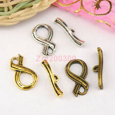 15Sets Tibetan Silver,Antiqued Gold,Bronze Connectors Toggle Clasps M1413