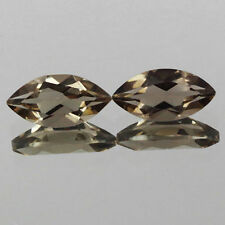 10x5mm Lot 2,3pcs Marquise Cut Natural Earth-Mined Smoky Brown QUARTZ