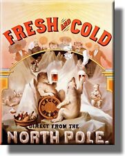 Fresh and Cold Lager Beer Vintage Picture on Canvas Framed, Wall Art Decor