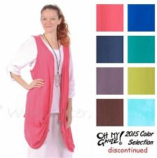 OH MY GAUZE Cotton OMAHA Open Layering Vest Top OS (M/L/XL/1X)  2015 DISC COLORS